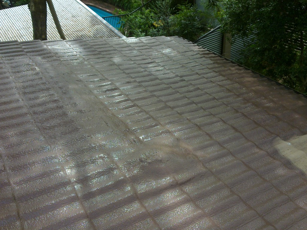 ROOF MEMBRANE APPLIED BY AIRLESS SPRAY EQUIPEMENT